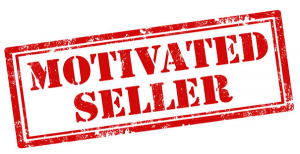Red motivated seller stamp for an article on hard money lender's tips on spotting sellers