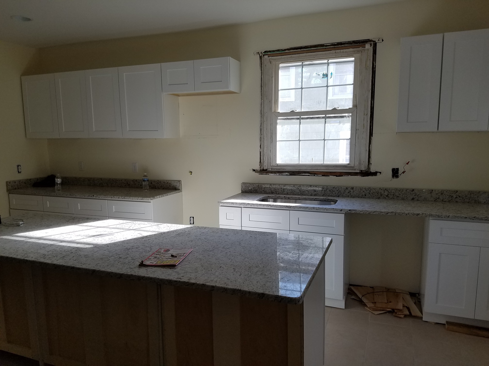 Hard Money Loan Example White Kitchen During Renovation