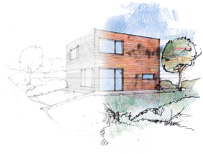 Sketch of a home being rehabbed using private hard money financing