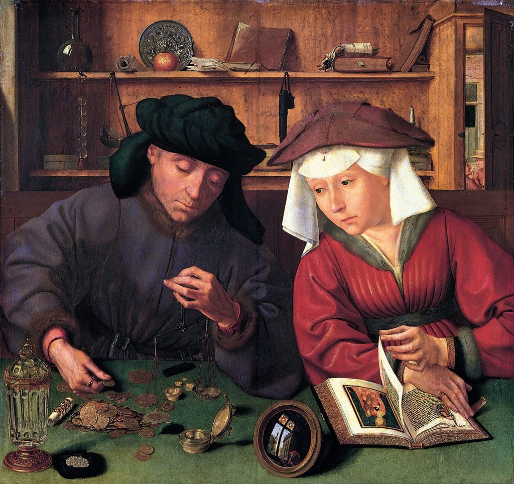 Money Lender And His Wife