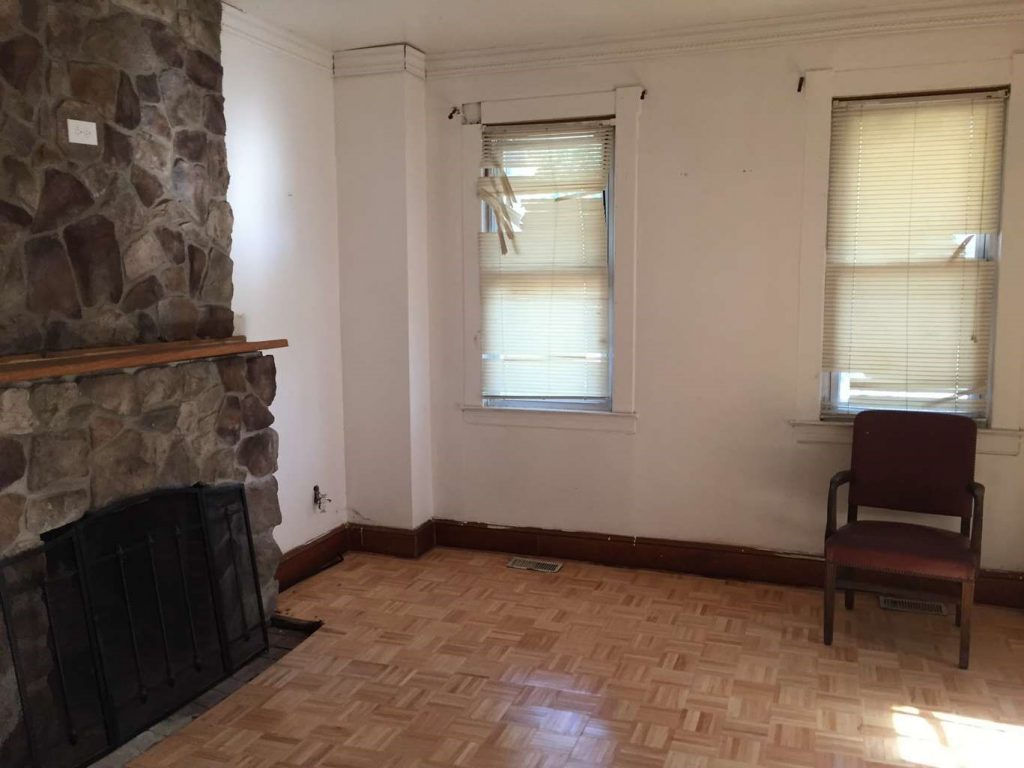 Baltimore Md Rehab Family Room Before